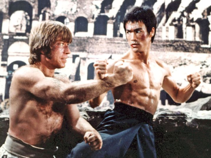 Karate Chuck Norris and Bruce Lee