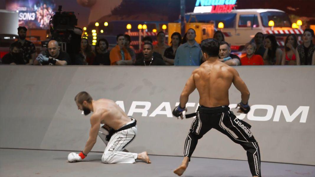 Luiz Rocha finishes Nikita Yanchuk in Karate Combat Season 3 Event 8