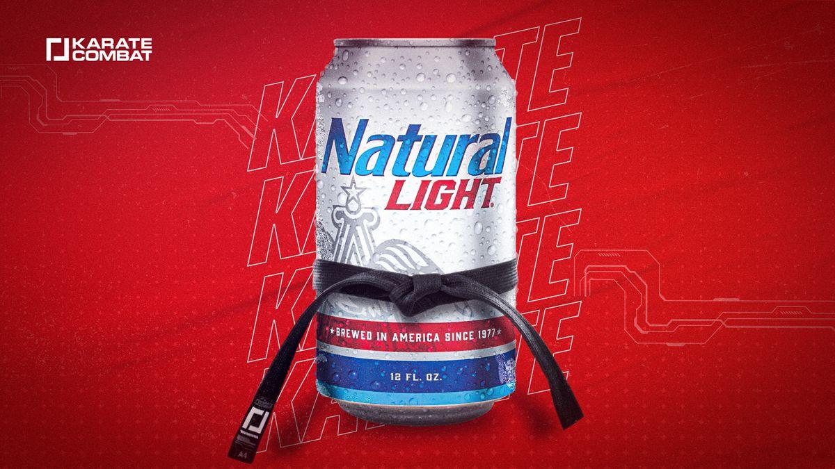 Natural Light beer enters the Karate Combat Pit