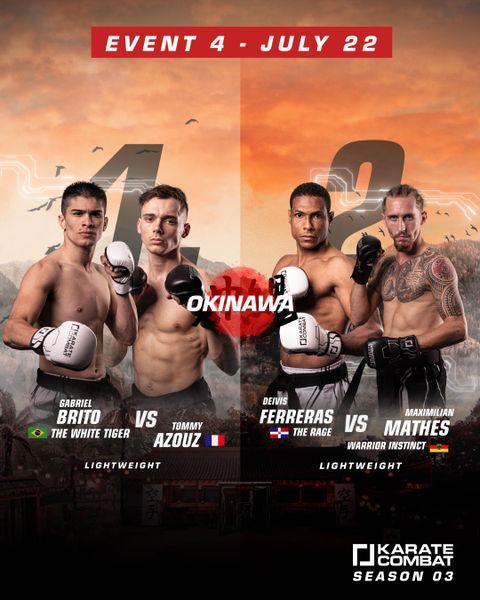 Karate Combat's Season 3 Episode 4 Fight Card