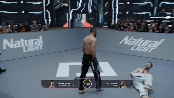 Levine stalks Grinevich but does not engage - Karate Combat Season 3 Event 9