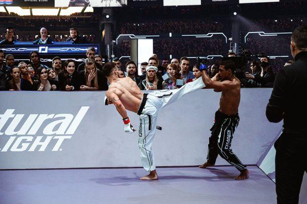 Certan lands on Ferreras at the Season 3 Finale of Karate Combat