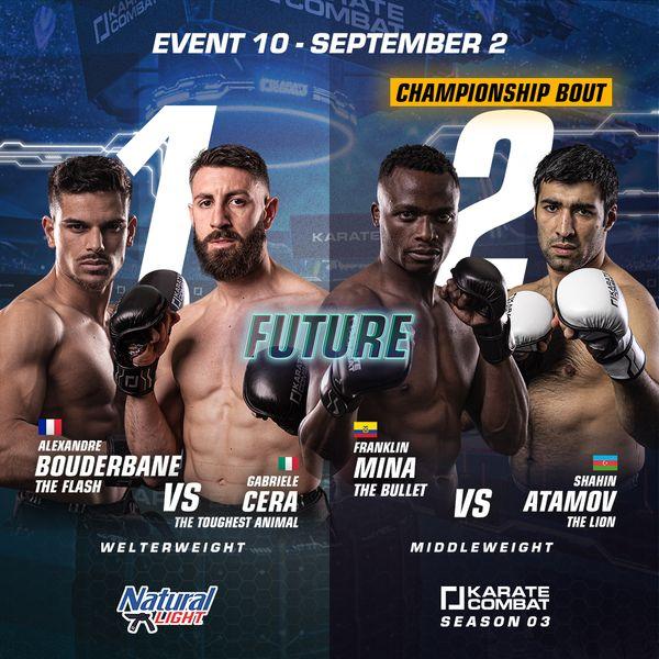 Karate Combat Season 3 Event 10 Fight Poster