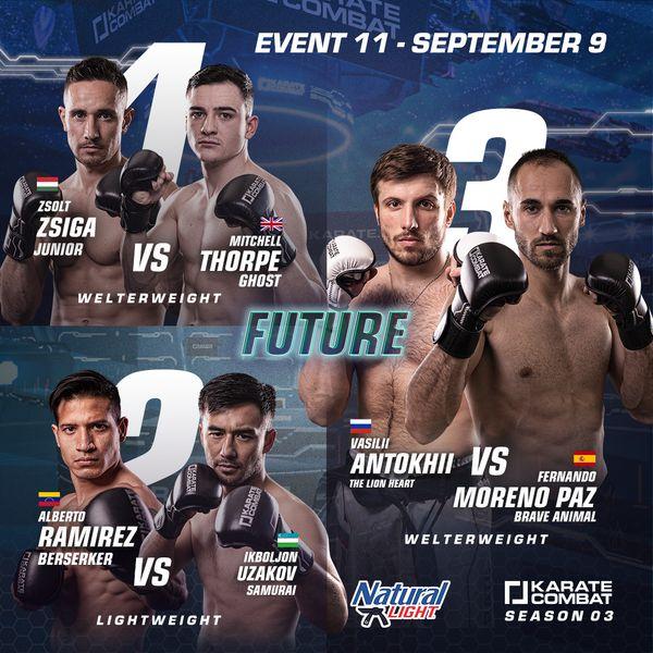 Karate Combat Season 3 Event 11 Fight Poster