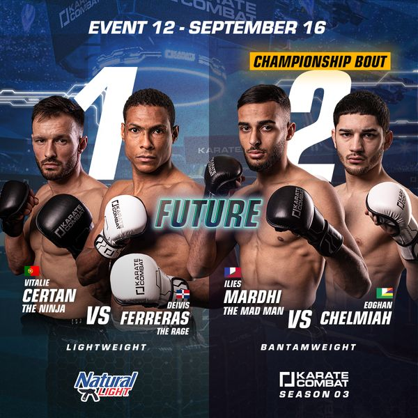 Fight Poster for Karate Combat Season 3 Event 12 the Season 3 Finale Bantamweight Championship